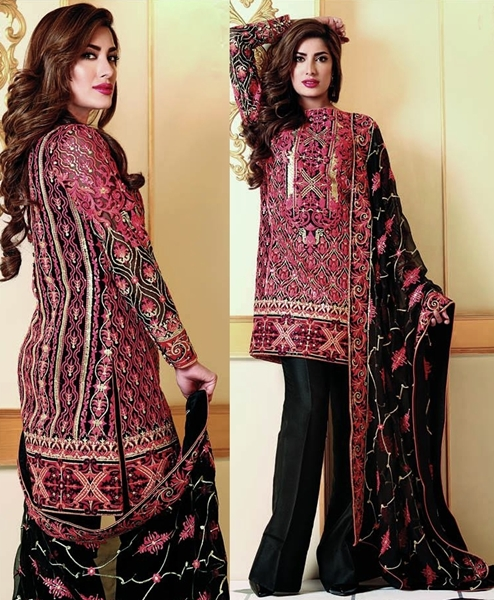 Shariq Nomi Ansari Chiffon Collection 2016-17 Vol-2 for Eid-ul-Adha
