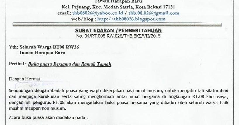 Sarana Informasi Warga Perum Thb Rt 08 Rw 026 Kota Bekasi Undangan