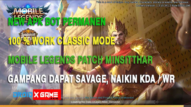 New Apk BOT Permanent Mobile Legends 100% Work Gampang Nyari Savage!