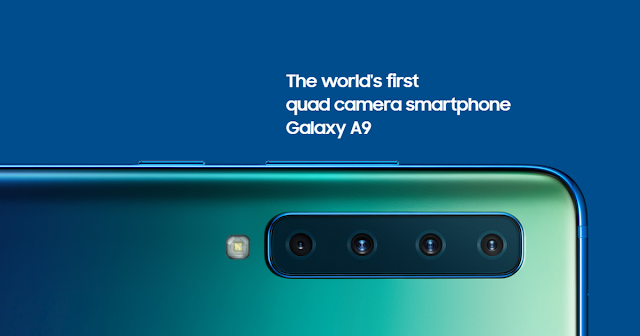Samsung Galaxy A9 Smartphone launch, equipped with world's first 4 lens 47MP rear camera
