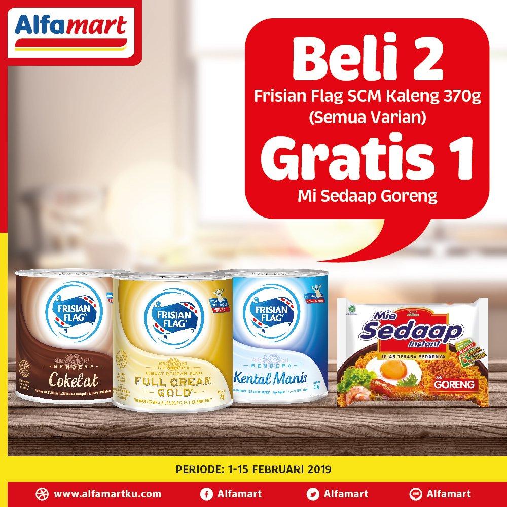 #Alfamart - #Promo Beli 2 Frisian Flag SCM Gratis 1 Mie Sedap Goreng (s.d 15 Feb 2019)