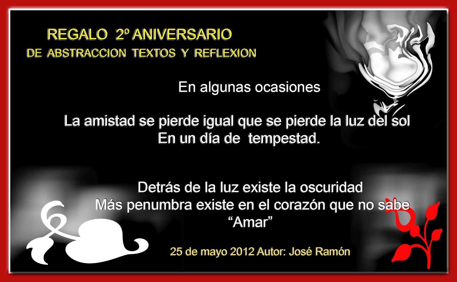 Aniversario De Texto: Abstracción Textos Y Reflexión: ANIVERSARIO DE ABSTRACCION