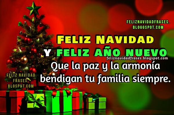 Frases de feliz navidad, tarjetas con imágenes navideñas, frases con deseos de navidad y año nuevo 2017 por Mery Bracho.