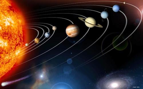 Sistema solar, os oito planetas (mais Plutão) e os luminares da semana chinesa