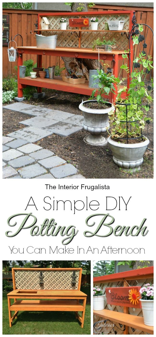A Simple DIY Potting Bench
