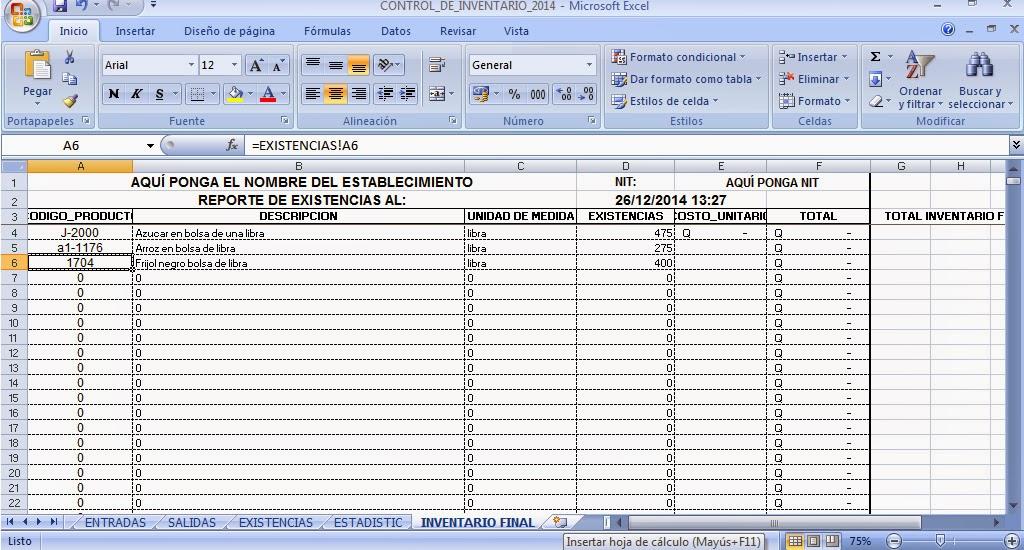 macro control de inventarios en excel gratis 1 home inventory - formatos de excel gratis