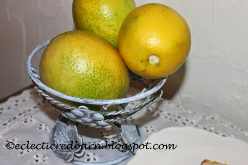 Eclectic Red Barn: Lemons from the tree