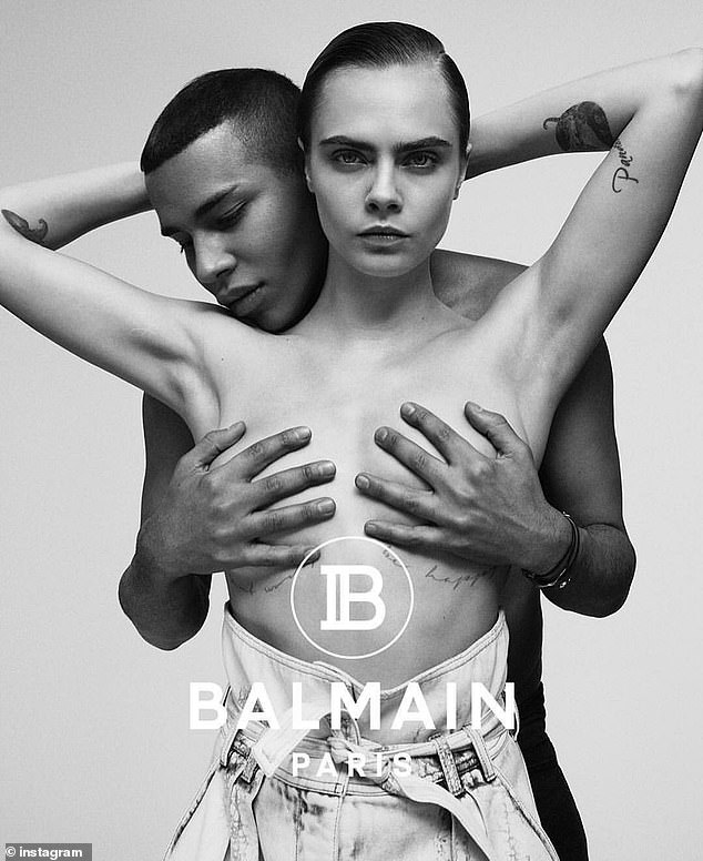 Cara Delevingne recreates Janet Jackson's Rolling Stone cover for Balmain Campaign