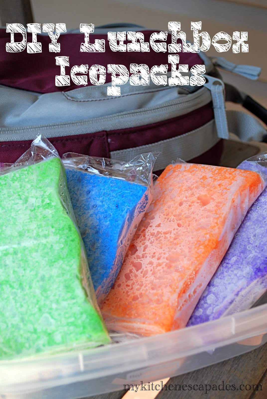 Homemade Ice Pack Diy Reusable Lunch Box Cooler