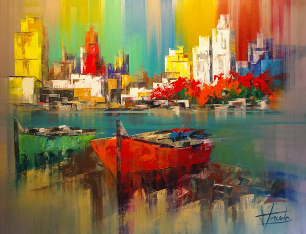 Im genes arte pinturas pintura moderna y de color - Cuadros modernos con mucho color ...