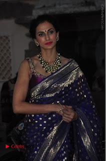 Model Shilpa Reddy Stills in Purple Silk Saree at Gudi Sambaralu 2017 Sri Ramachandra Swami Temple  0025.JPG