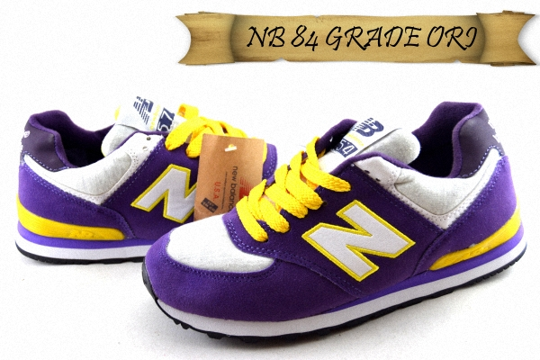 NEW BALANCE 84 GRADE ORI VIETNAM SUEDE Warna ungu kuning Terbaru - Lia Shop  Online e0813681a2