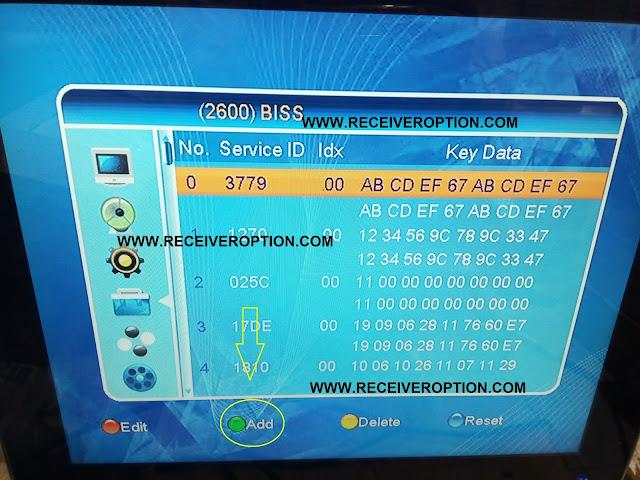STAR TRACK SR-6666 MPEG4 RECEIVER BISS KEY OPTION