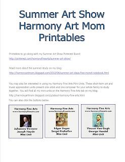 Summer Arts Show Printable by Harmony Art Mom