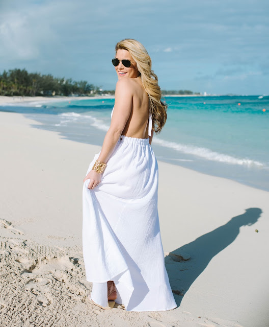 Stunning White Backless Maxi Dress