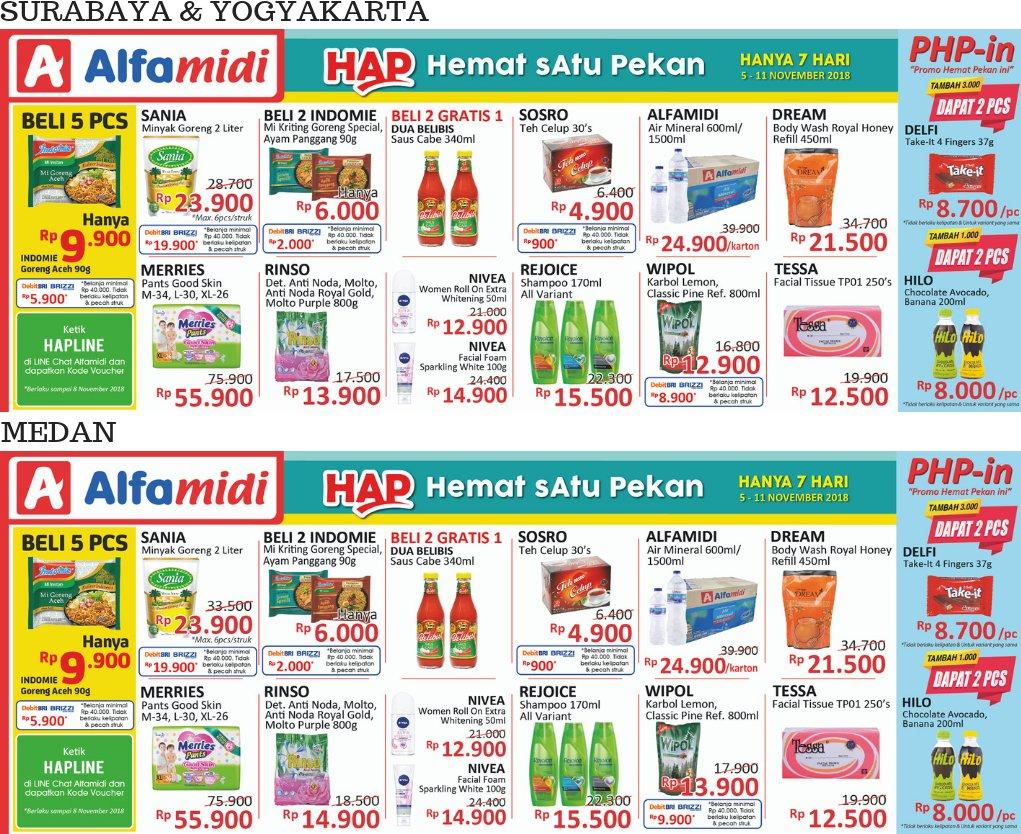 Alfamidi - Promo Hemat Satu Pekan Periode 05 - 11 November 2018