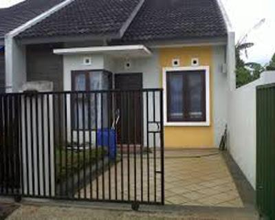 tampak depan model rumah minimalis indah