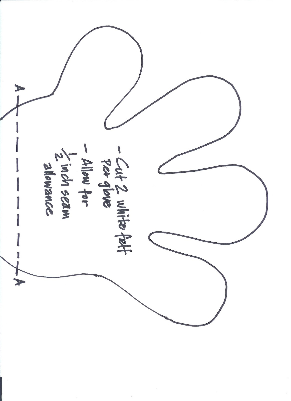 Glove Sewing Pattern Unique Decorating Design