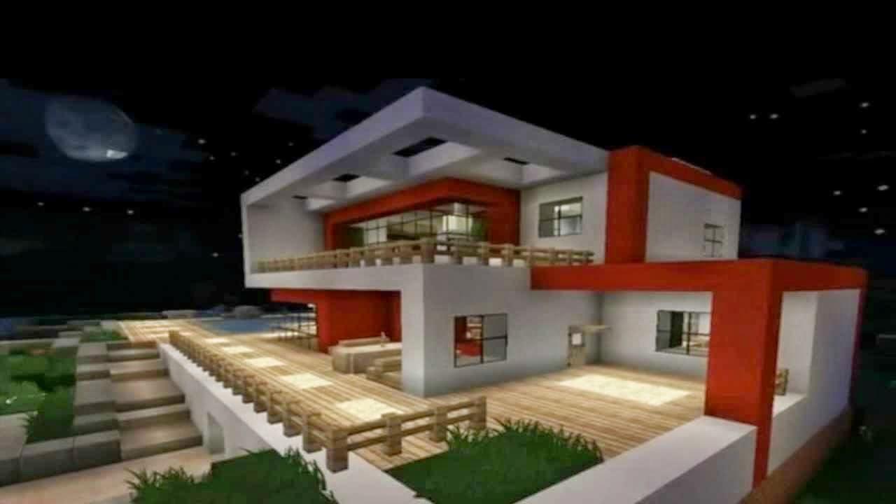 10 megas constru es no minecraft nerd moderno for Casa moderna 1 8
