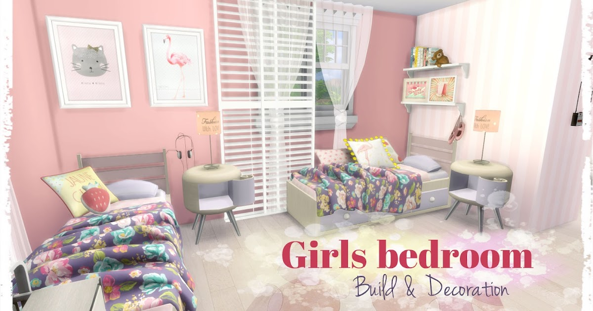 Sims 4 girls bedroom room mods for download dinha for H b bedrooms oldham