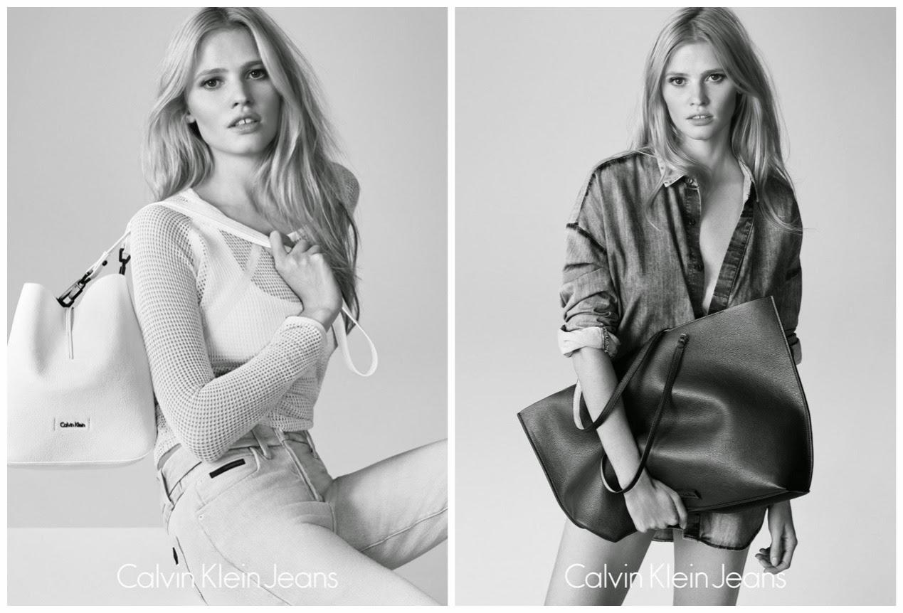 Calvin Klein Jeans Summer 2015 Campaign featuring Lara Stone