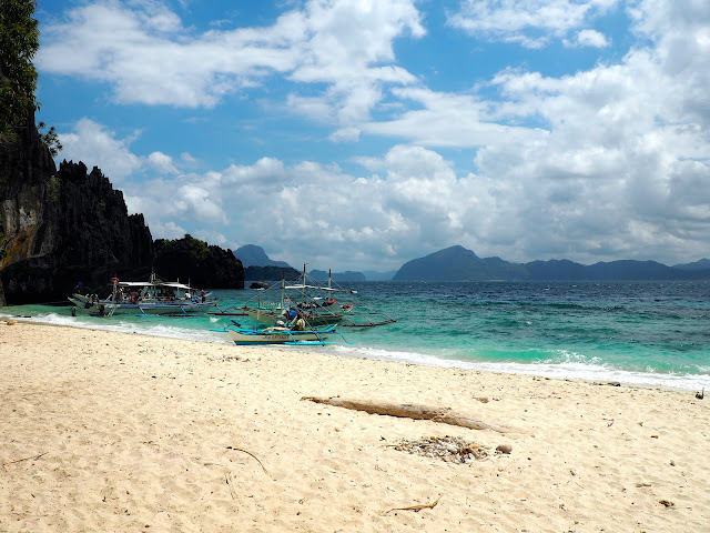Beach at Shimizu Island on Tour A around Bacuit Bay, El Nido, Palawan, Philippines