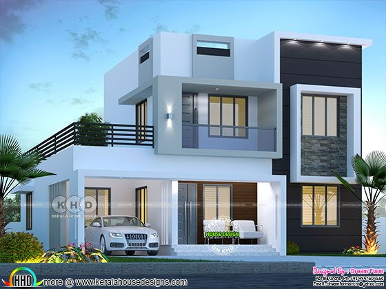 1750 sq-ft 3 bedroom modern house