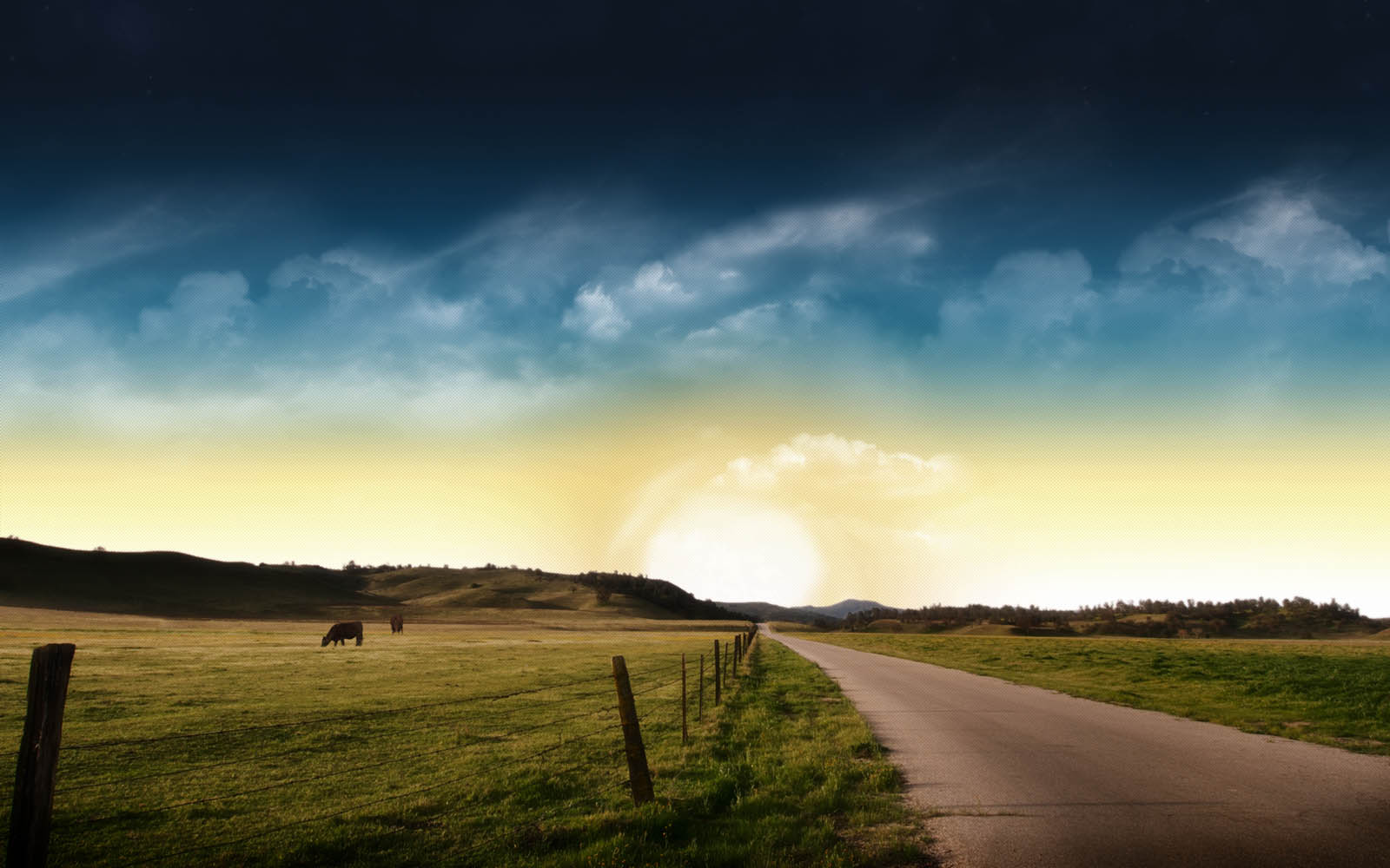 Wallpapers: Prairie Road Nature Wallpapers