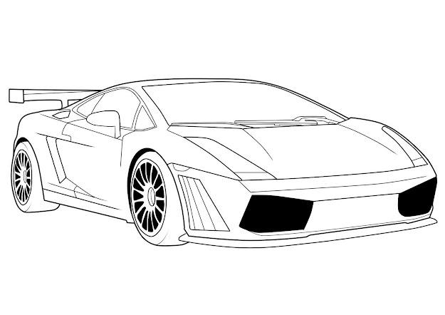 Car Coloring Pages Lamborghini
