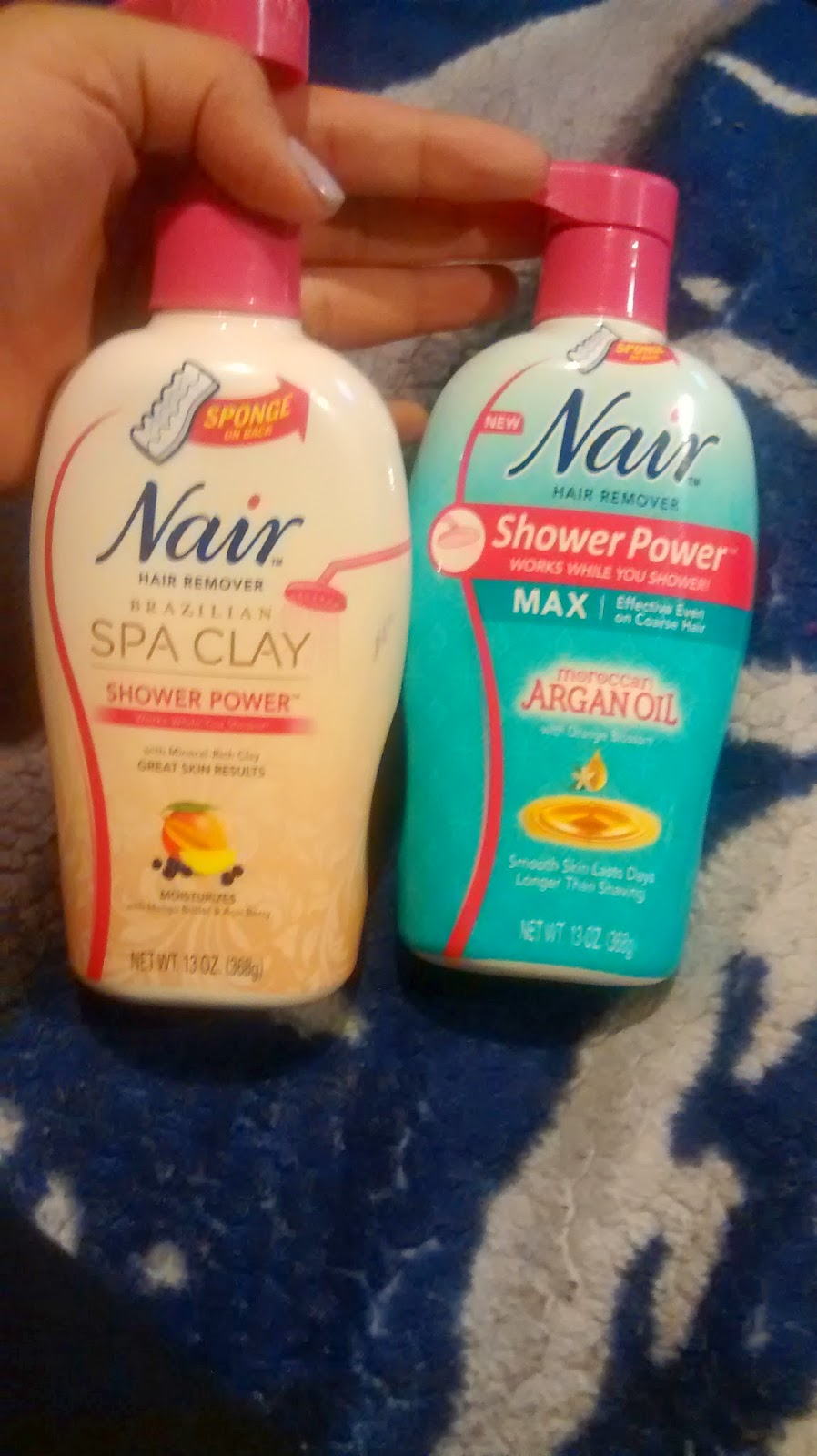 Nair Shower Power Max Argan Oil Brazilian Spa Clay
