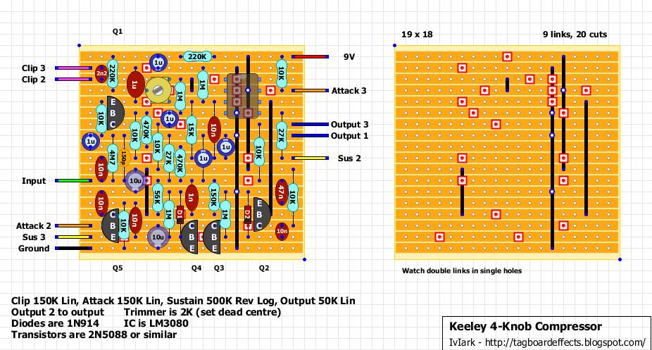 Guitar FX Layouts: Keeley 4- Compressor on