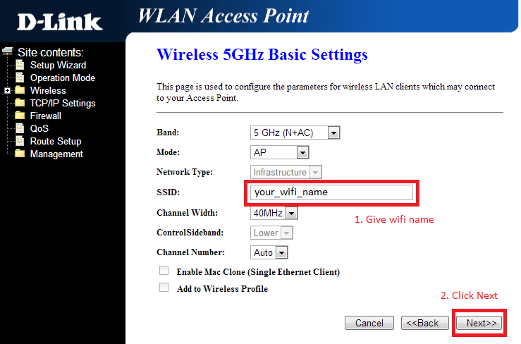 Wireless Security Option Dlink Router