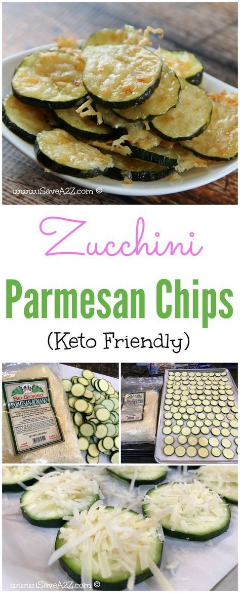 Low Carb Zucchini Parmesan Chips - Keto Friendly Recipe