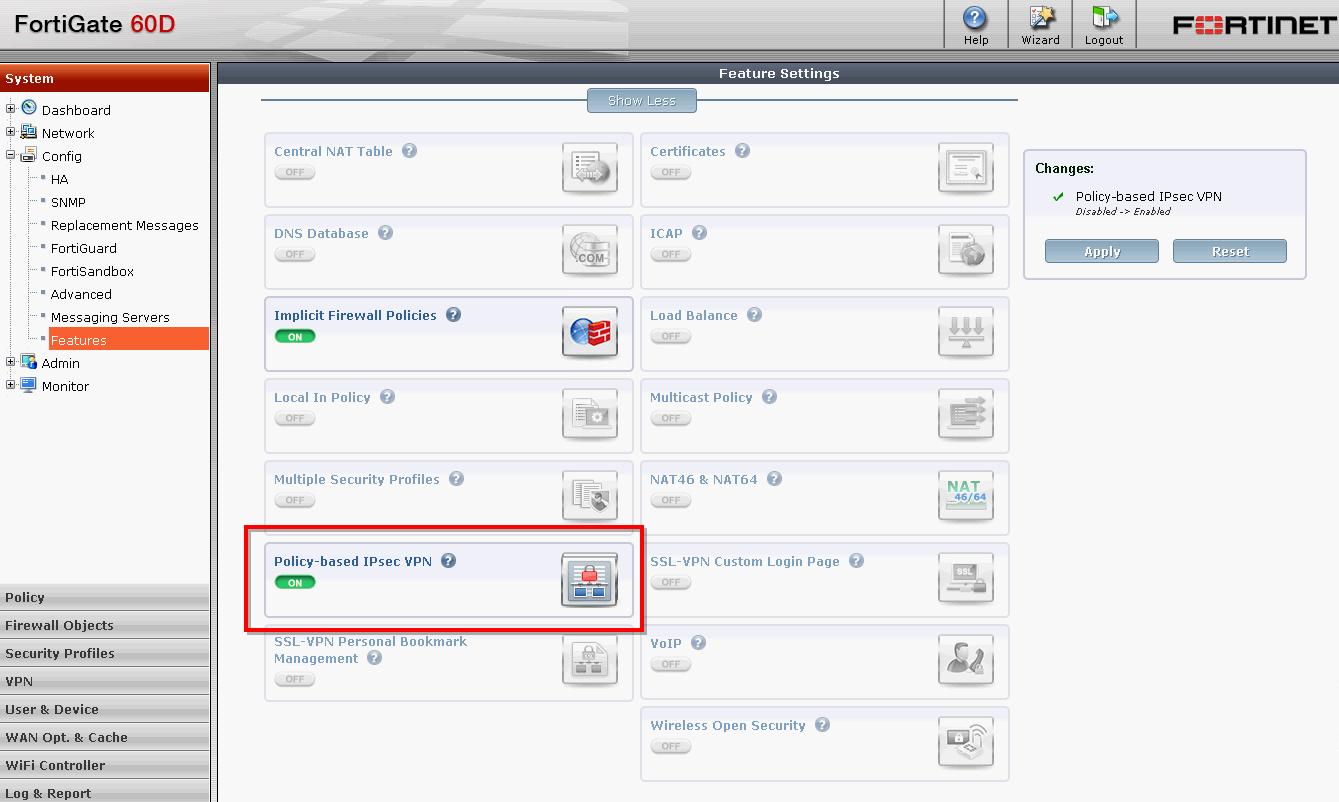 Set Up IPSec Site to Site VPN Between Fortigate 60D (2