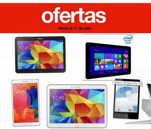 56ff4ecdb5f Ofertas Tablets El Corte Ingles hasta el 17 Julio 2014