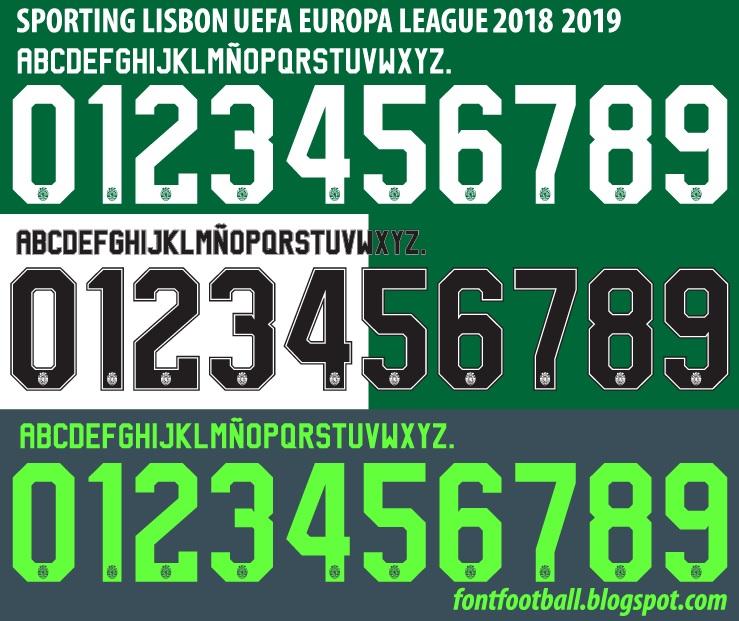 2019 Font: FONT FOOTBALL: Font Vector Sporting Lisbon UEFA EUROPA