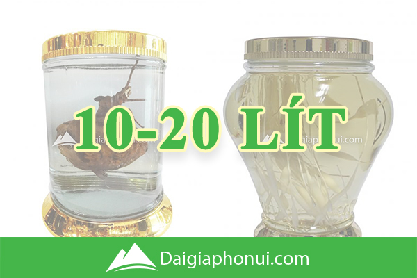 Bình Ngâm Rượu Hàn Quốc (Yongcheon Glass) 10-20 Lít - Dai Gia Pho Nui