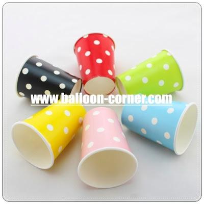 Gelas Kertas / Paper Cup Motif Polkadot