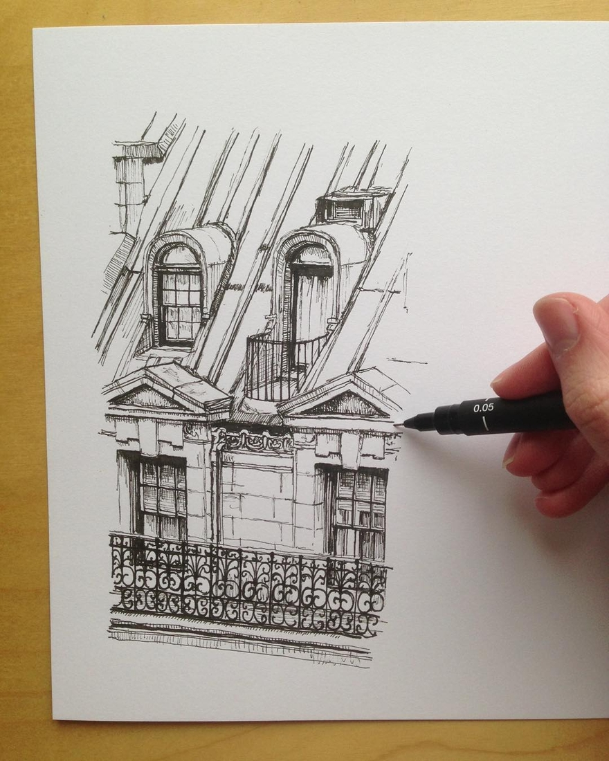 03-Paris-France-Phoebe-Atkey-Urban-Sketcher-Architectural-Building-Drawings-www-designstack-co