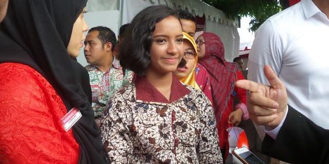 Akhirnya, Gloria Diijinkan Presiden Jokowi Untuk Gabung Paskibraka Sebagai Petugas Penurunan Bendera Sore Nanti