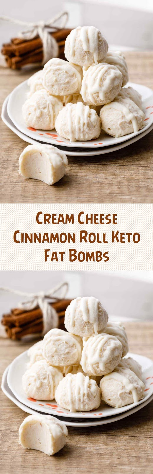 Cream Cheese Cinnamon Roll Keto Fat Bombs