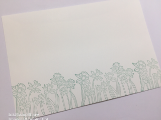 Daffodils from You're inspiring stamped on envelope.