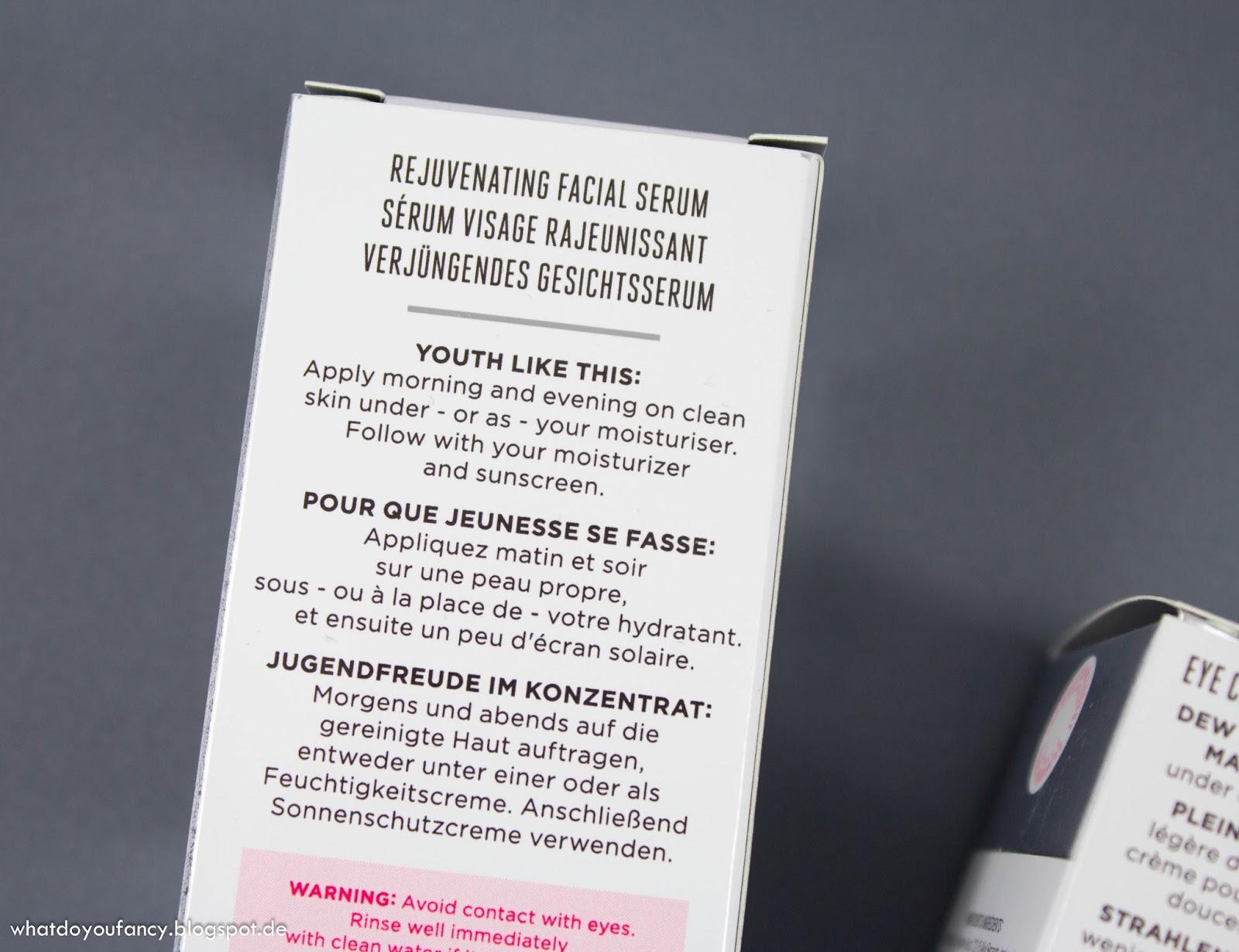 Start des Douglas-Produkttests Soap&Glory Make Yourself Youthful Rejuvenating Facial Serum
