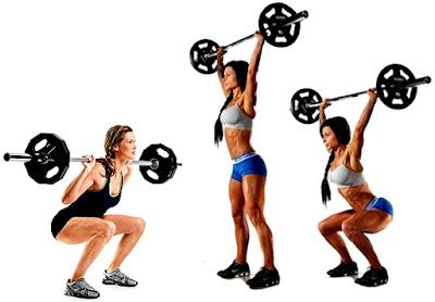 Masa muscular rutina mujeres sentadilla barra