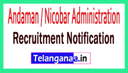 Andaman Nicobar Administration Recruitment Notification