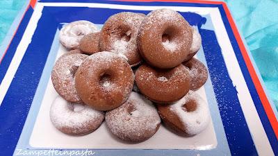 Donuts al Nesquik - Mini ciambelline al cacao