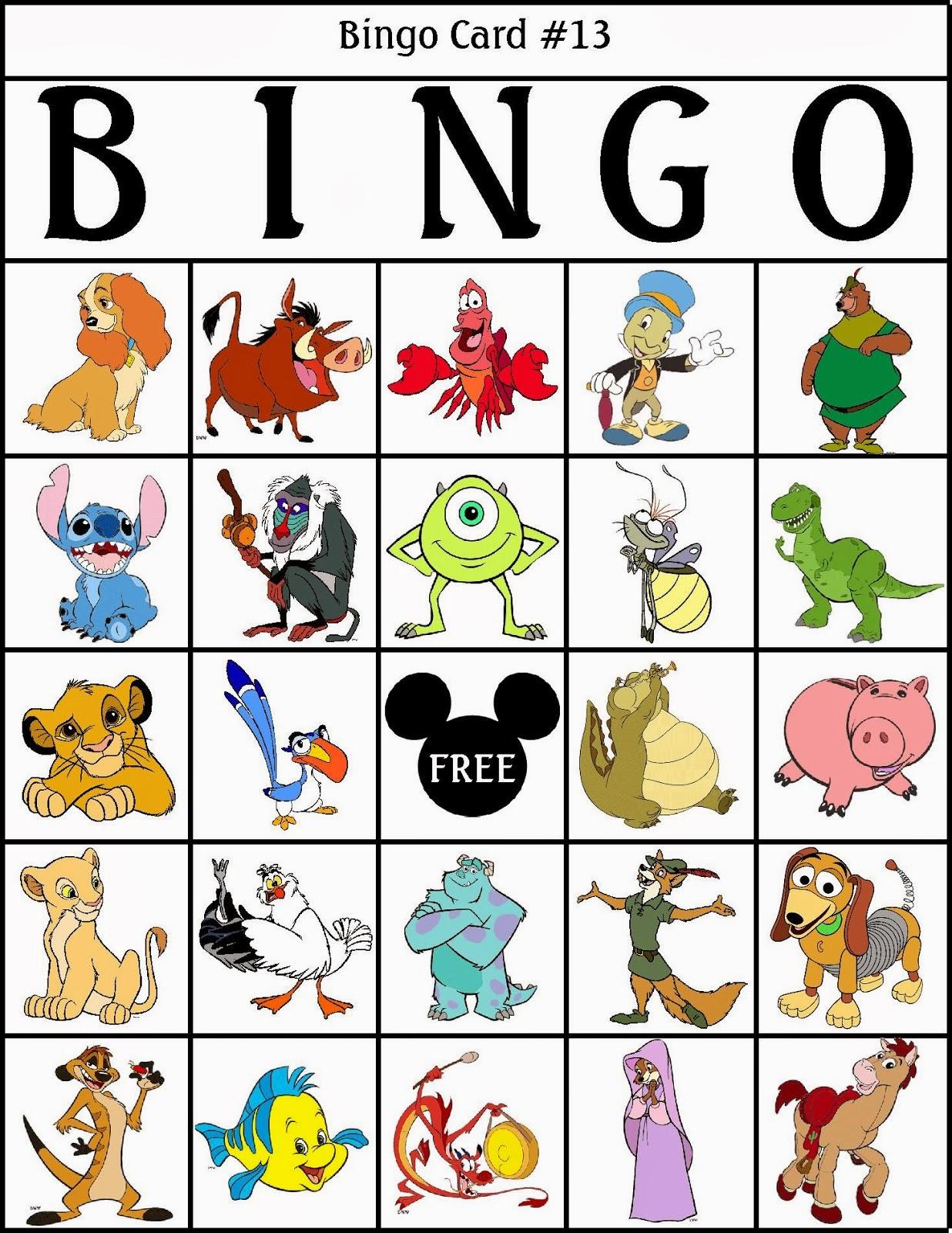 Bingo de Personajes Disney, para Imprimir Gratis. | Ideas y material ...