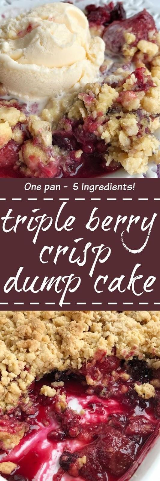 BERRY CRISP DUMP CAKE