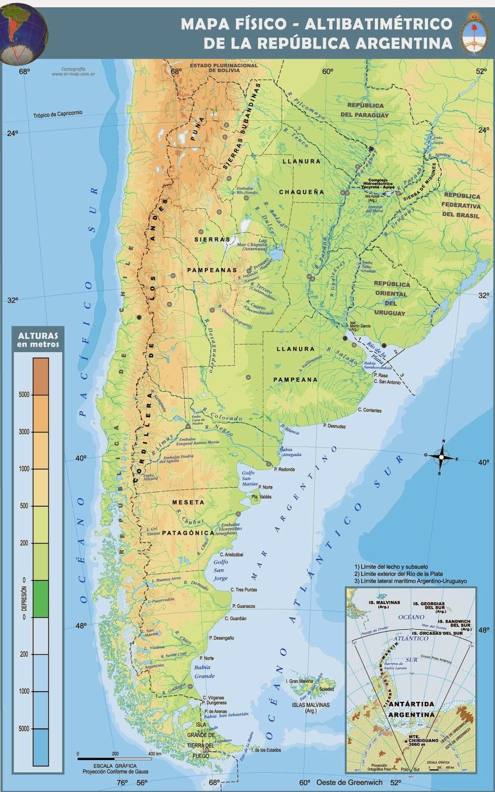 Mapas Geográficos da Argentina