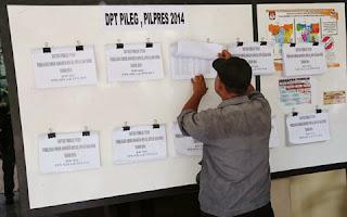 DPT Pileg, Pilpres, Pemilu 2014